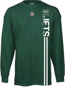Reebok New York Jets NFL Men's Sideline Power Shirt Tee, Green, X-Large