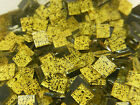 100 Blueriverglass YELLOW and BLACK  Mosaic Glass Tiles SUPPLIES