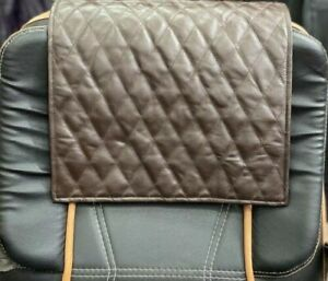 NOORA Lambskin Leather Quilted Headrest Cover, Furniture Protector Slipcover UN2