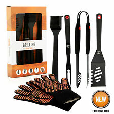 Yukon Glory Durable 5 Piece Grilling Tool Set Signature Edition Great Gift