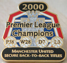 MANCHESTER UNITED Victory Pins 2000 PREMIER LEAGUE CHAMPIONS Badge Danbury Mint