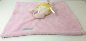 Blankets and Beyond Lovey Security Blanket Pink Girl Doll Yellow Hair
