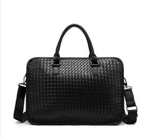 Business Mens Real Leather Briefcase Handbag Fashion Shoulder Laptop Bag TU