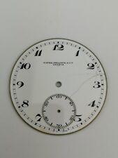 Rare Original Patek Philippe Signed Enamel Snap On Pocket Watch Dial (D16)