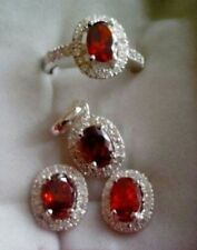 Mariellasgem - NEW RUBY DIAMOND RING, EARRING AND PENDANT in FINE SILVER . des 4