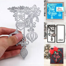 US Christmas Holly Bauble Metal Cutting Dies Stencil Scrapbook Card Embossing