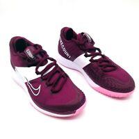 Nike Womens Court Air Zoom Zero Hc Tennis Shoes Purple AA8022-603 8.5 M New