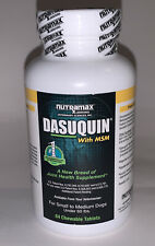 NEW NUTRAMAX DASUQUIN MSM JOINT HEALTH SUPPLEMENT FOR SM-MED DOGS 84 CHEWS