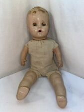Vtg Antique Large Composition Girl Doll Soft Body Sleepy Eyes Teeth 18� Tall