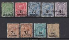 1921 British Levant KGV surcharged, set of 9, SG 41-47, used