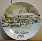 Vintage JM Smuckers CHRISTMAS 1985 Collector Plate ADENA FARM 14th in Series EVC