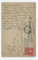 1918 Postcard, Spanish Flu Message, Alexandria LA, Vicksburg MS, New York NY