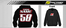 CUSTOM NAME AND NUMBER  HOODIE SWEAT SHIRT MX MOTOCROSS  Style #5