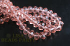 100pcs 3x4mm Faceted Rondelle Crystal Glass Loose Spacer Beads Aqua Red Crafts