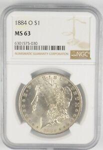 MS63 GRADED - 1884-O Morgan Silver Dollar- NGC *649