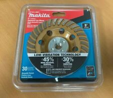 Makita 5 in.Turbo Low-Vibration Diamond Cup Wheel, Compatible with Angle Grinder