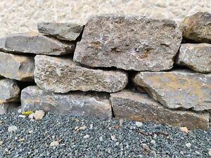 Muschelkalk Mauersteine für Trocken Mauer Bruchsteine Rustikal Massiv 20-50cm