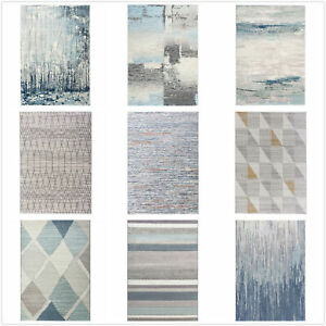 Stock Clearance!! Extra Large Rug/ Blue/Grey Carpet/Diamond Abstract Modern Rugs
