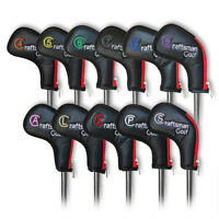 Zipper 4-L XW Golf Iron Headcovers Covers For Taylormade Mizuno Titleist Black