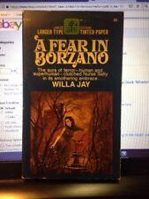 '67 Gothic Paperback A Fear In Borzano By Willa Jay