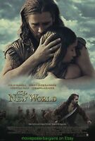 THE NEW WORLD MOVIE POSTER 2 SIDED 27x40 COLIN FARRELL