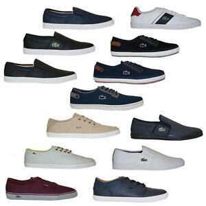 Lacoste Scarpe Basse Sneakers Pantofola con Lacci Uomo Mocassini Nuovo