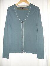 "Lovely mens Banana Republic blue cardy fine knit cotton size S = 40"" only £8"