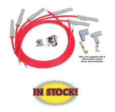MSD 6 Cylinder Plug Wire Set, Super Conductor Straight-Angle Plug - 31179