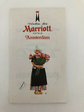 Vintage Marriott Amsterdam Paper Pad Dutch Girl Tulip Flowers Hotel Collectible
