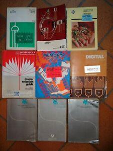 Lot de 9 data book composants électroniques vintage années 70