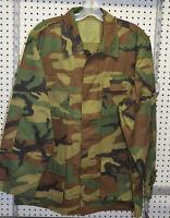New combat shirt woodland size large ( bte#78 )