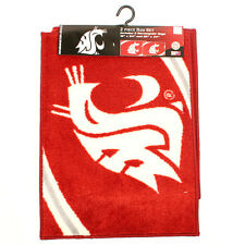 Washington State 2 piece Rug set by Northwest Cougars NCAA Pac 12 Football Red