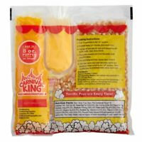 All-In-One Popcorn Kit for 8 oz.-10 oz. Poppers -24/Case-Pre-portioned-Butter