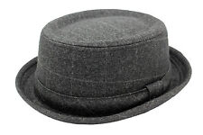 Adult's Charcoal Tweed Pork Pie Trilby Hat