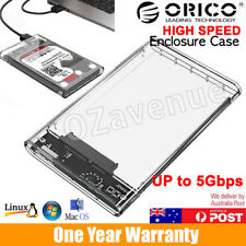 "Fast USB 3.0 External SATA 2.5"" Hard Drive Enclosure HDD Caddy Case Tool-Free OZ"