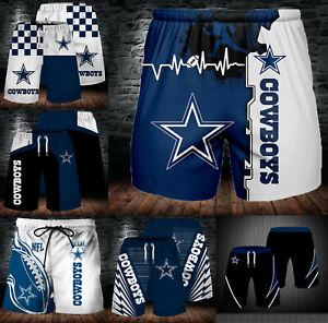 Dallas Cowboys Summer Beach Shorts Mens Cool Loose Sport Shorts Swim Trunks Gift