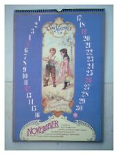 ALMANACH CALENDRIER  VAN HOUTTEN 11/1978 TBE ANNIVERSAIRE BELLE DECO