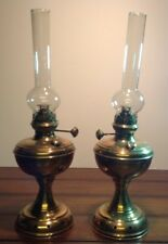 Vintage Brass Pair of Oil Lamps Namna Uyno 8008