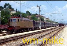 ELECTRICS #185 Bologna Italy station scene in 1977 ORIGINAL slide