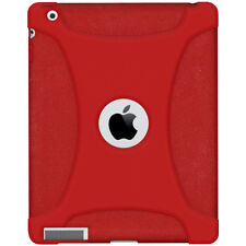 AMZER SOFT SILICONE SKIN JELLY CASE COVER FIT FOR APPLE iPAD 2 - TOMATO RED