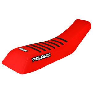 Polaris Scrambler 250 400 500 Seat cover 1995 - 2003 RED / BLACK   RIBS  #243