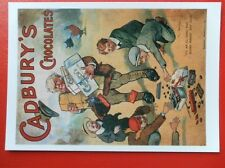 POSTCARD  ART ADVERT - CABURY'S  CHOCOLATE ITS AN ILL WIND THAT BLOWS NOBODY ANY