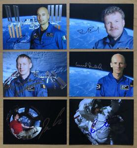 6 AK ESA Raumfahrer Astronauten Autogrammkarten original handsigniert