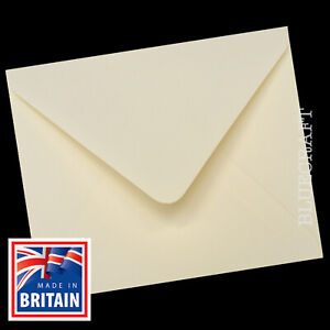 "200 pack x Ivory 130mm Square 5"" Envelopes 100gsm Ideal Wedding Stationery"