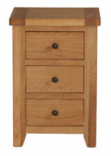 Oak Country Bedside Tables & Cabinets with 3 Drawers