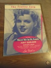 Vintage Sheet Music, The Trolley Song , Judy Garland Meet me in St Louis, 1944