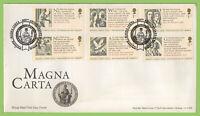 G.B. 2015 Magna Carta set on u/a Royal Mail First Day Cover, 800th Anniv.