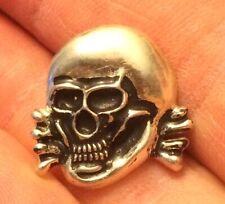 ~ 925. Silver Vintage Skull Pin