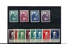 PORTUGAL SCOTT 595-602 AND 753-756 MNH SETS.
