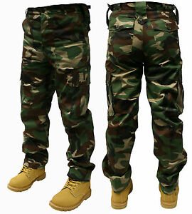 """Adults Camo Army Cargo Combat Trousers - 8 DIFFERENT CAMO PATTERNS! 30""""-50"""""""